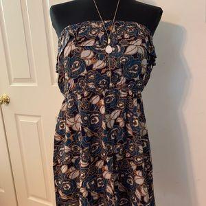 Cute lined mini ruffle top dress or tunic top